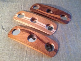three styles of rounded candle holders