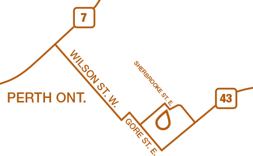 map to Whistlewood custom woodworking and design