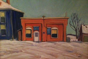 The Shop - a painting by Doug Cosby